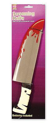 Blutiges Messer - Kostüm Zubehör Mörder Halloween Horror Fasching Bankräuber NEU