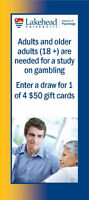 Adults and Older Adults Needed for Study: Gift card draw