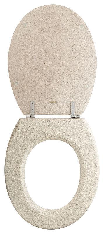 WC-Sitz Granit Sanwood 44 x 36 cm Steinoptik Toiletendeckel Klodeckel Klobrille
