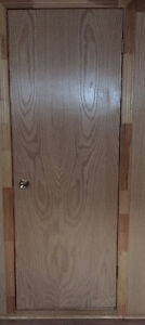 """WOOD DOORS WITH HINDGES AND HANDLES 28"""""""