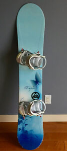 """154"""" Fifty One Fifty Empress snowboard with K2 Charm bindings"""
