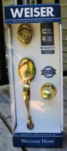 Weiser Smart Key front door lock set NEW IN BOX
