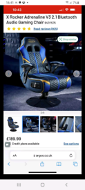 X rocker adrenaline gaming chair. £120 ONO
