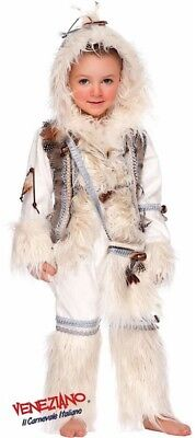 Italian Made Boys Deluxe Eskimo Around the World Fancy Dress Costume Outfit - Boys Eskimo Costume