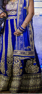 Gorgeous Blue Indian Women Lengha/Gown!