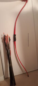 Archery equipment bow and arrows