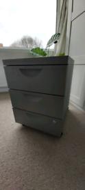 IKEA storage unit - metal, 3 drawer, lockable