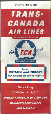 Trans Canada Air Lines System Timetable 6 1 59  7071