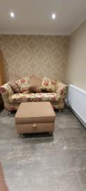 2/3 Seater Sofa & Storage Foot Stool Matching