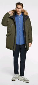 Zara Quilted Parka with Hood XL
