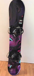 Women's K2 Lunatique Snowboard and Bindings NEVER USED