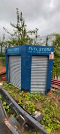 Fuel shed for garage or shop