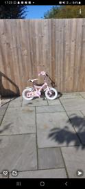 Pink kids bicycle (3-5) years old