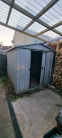 Steel galvanised shed 8x6