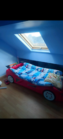 Racing car bed for child