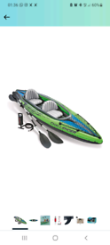 Intex Challenger Kayak Inflatable Set with Aluminum Oars BRAND New and
