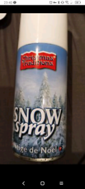 Can of Snow Spray Christmas traditions NEW window Xmas decoration snow