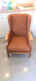 Vintage brown arm chair