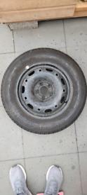 5x100 VW Polo steel alloy wheel