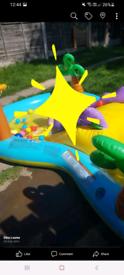 Childrens dinasaur land swimming pool