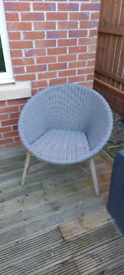 Grey garden chair