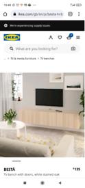IKEA TV Cabinet (Besta) with legs