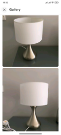 1 Table Lamp, Touch Lamp, Silver Color, dimmable