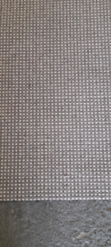 Beautiful grey and white 100% wool Carpet (free delivery)
