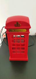 Red UK Telephone Box Lamp