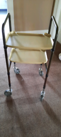 Disability aid trolley on wheels
