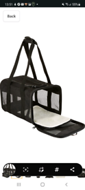 Pet carrier (great for puppies)