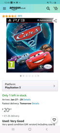 Cars 2 / ps3 game/ worth money only want £10 or swaps I've got a ful