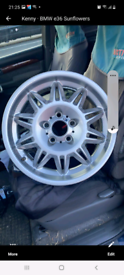 Bmw DS2 sunflower staggered alloy wheels