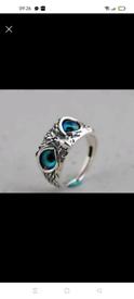 New beautiful handmade owl ring