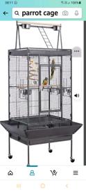 LARGE METAL PARROT BIRD CAGE