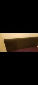 Dark Grey/Black Material Double Bed