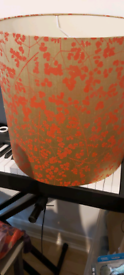 Large Red and Gold Floor Lampshade