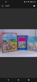 Vintage nursery rhyme large book bundle,x3 books.hardback.