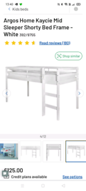 Shorty mid sleeper with mattress
