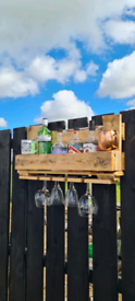 Gin shelf, Wine rack, Wall bar unit for patio or man cave