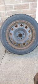 """Suzuki Swift Steel wheel 15"""" good tyre"""