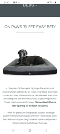 In paws dog bed XL Grey