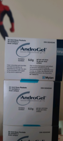 AndroGel Testosterone Gel 5.0g 30 packets per box Health & Special Needs Mississauga / Peel
