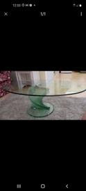 Stunning glass table