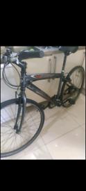 "Claud Butler city hybrid bike 18"" aluminium frame 18 speed vgc"