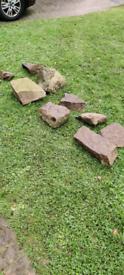 9x Rockery Garden Stones