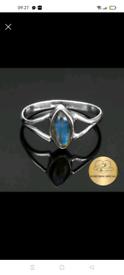 New marquise labradorite 925 ring