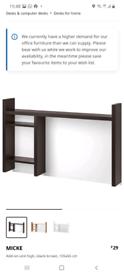 IKEA MICKE Add-on unit high, black-brown 105x65 cm