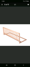 Wooden pine bed guard