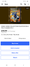 Sonic gem's collection 9 games in 1 / 19.99 on ebay/ cash or swaps